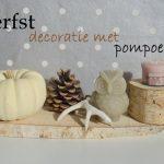 herfstdecoratie met pompoenen