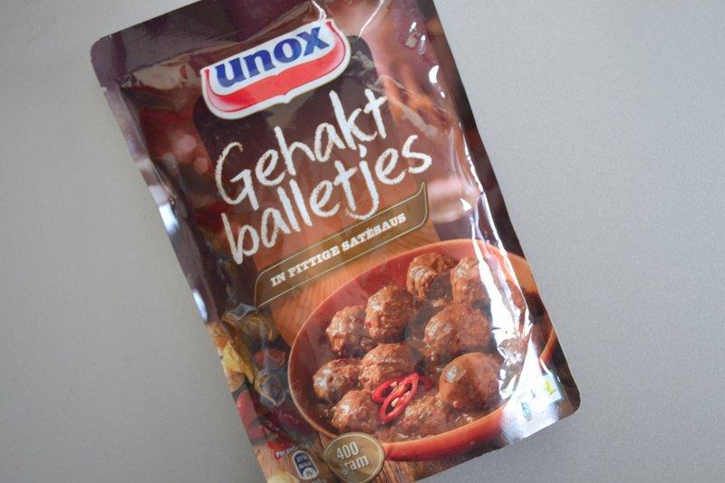 unox gehaktballen in pittige saus