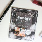 bubble sheet mask, action, bubbel gezichtsmasker