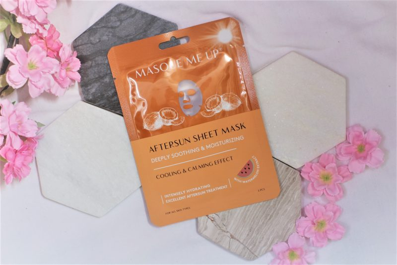 masque me up aftersun mask sheet