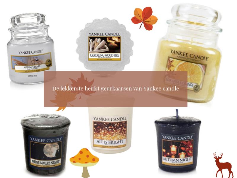 De lekkerste herfst geurkaarsen van Yankee candle