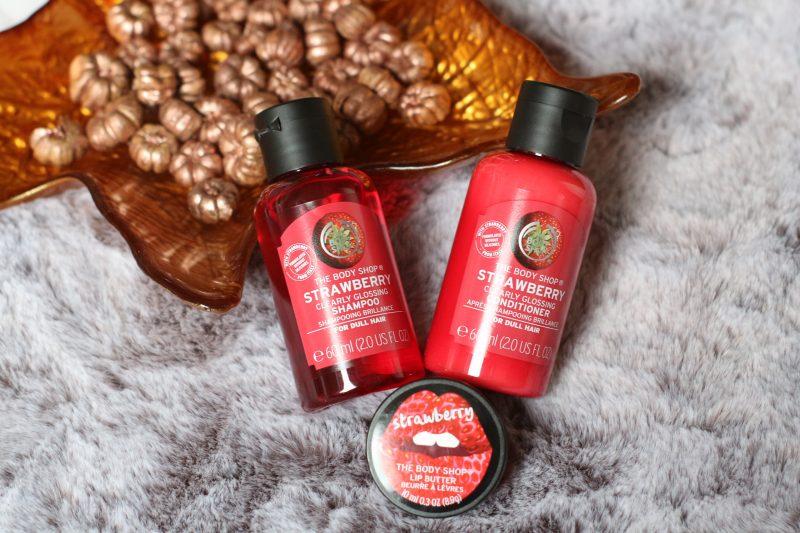 The body shop | Strawberry – Shampoo, conditioner, lippenbalsem
